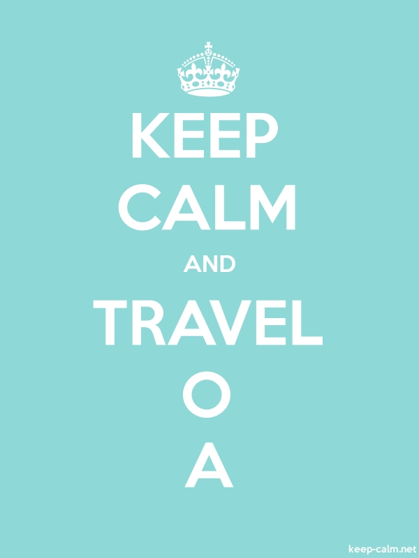 KEEP CALM AND TRAVEL O A - white/lightblue - Default (600x800)