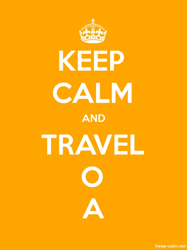 KEEP CALM AND TRAVEL O A - white/orange - Default (600x800)