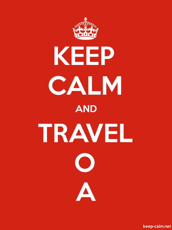KEEP CALM AND TRAVEL O A - white/red - Default (600x800)