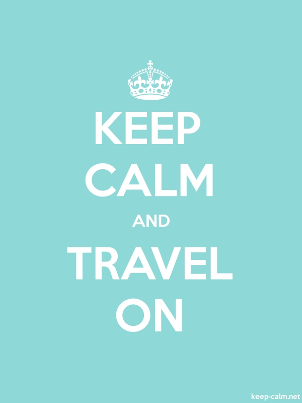 KEEP CALM AND TRAVEL ON - white/lightblue - Default (600x800)