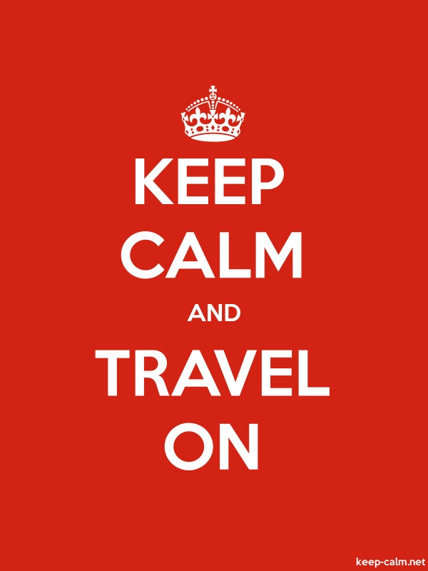KEEP CALM AND TRAVEL ON - white/red - Default (600x800)