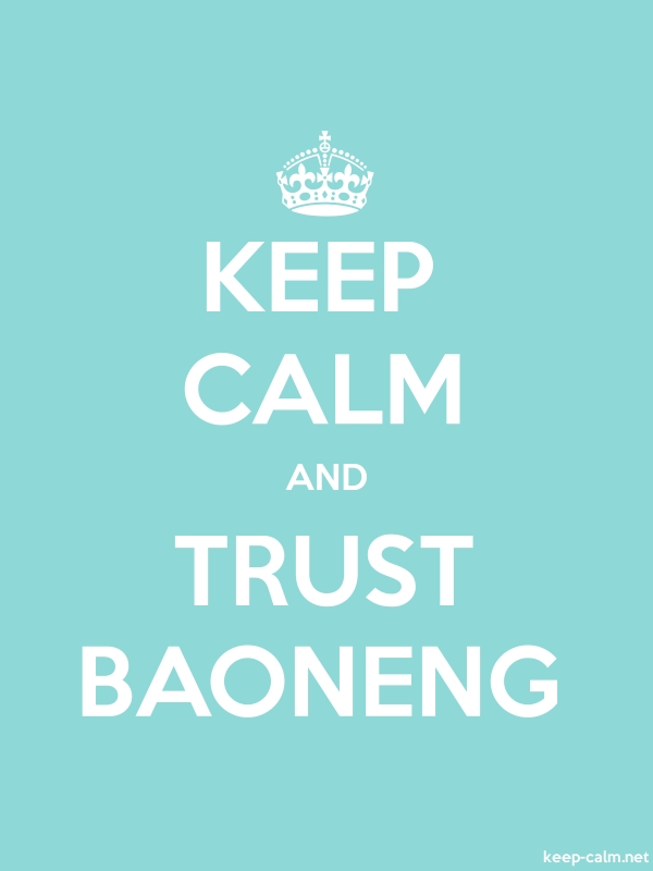 KEEP CALM AND TRUST BAONENG - white/lightblue - Default (600x800)