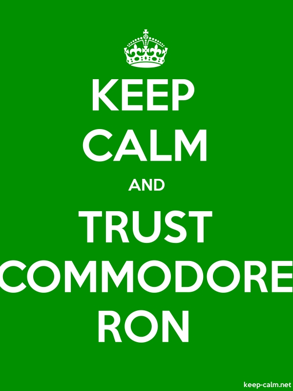 KEEP CALM AND TRUST COMMODORE RON - white/green - Default (600x800)