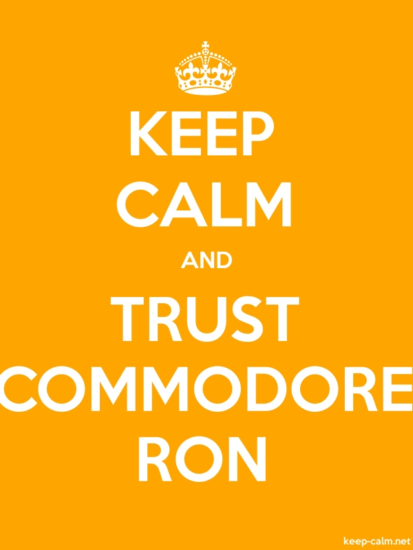 KEEP CALM AND TRUST COMMODORE RON - white/orange - Default (600x800)