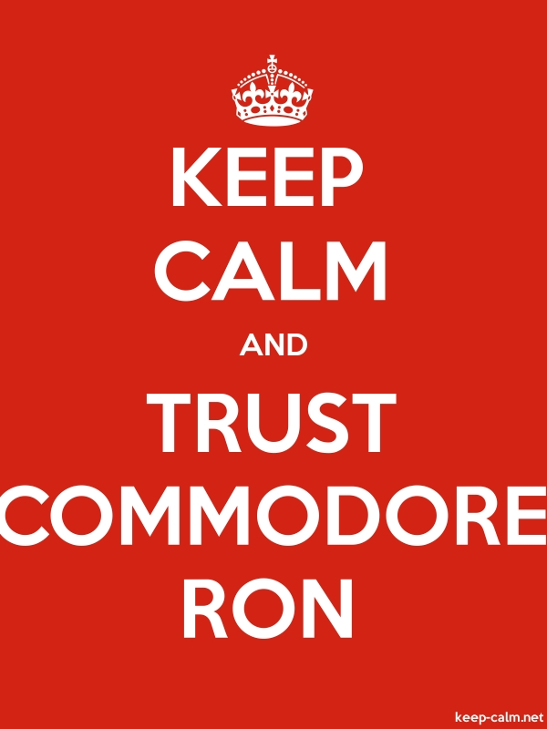 KEEP CALM AND TRUST COMMODORE RON - white/red - Default (600x800)