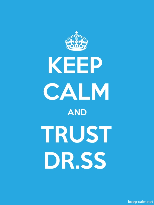KEEP CALM AND TRUST DR.SS - white/blue - Default (600x800)