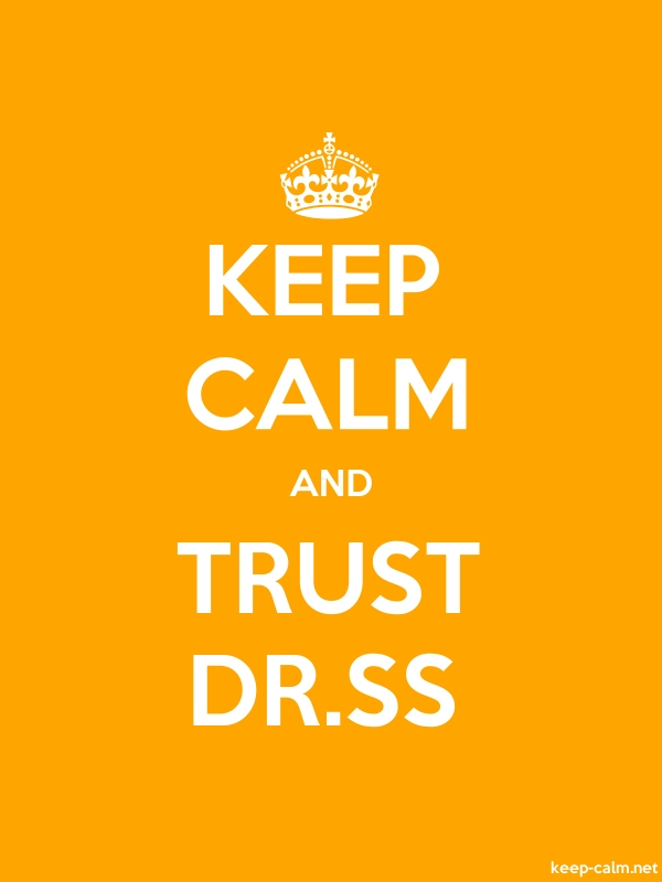 KEEP CALM AND TRUST DR.SS - white/orange - Default (600x800)