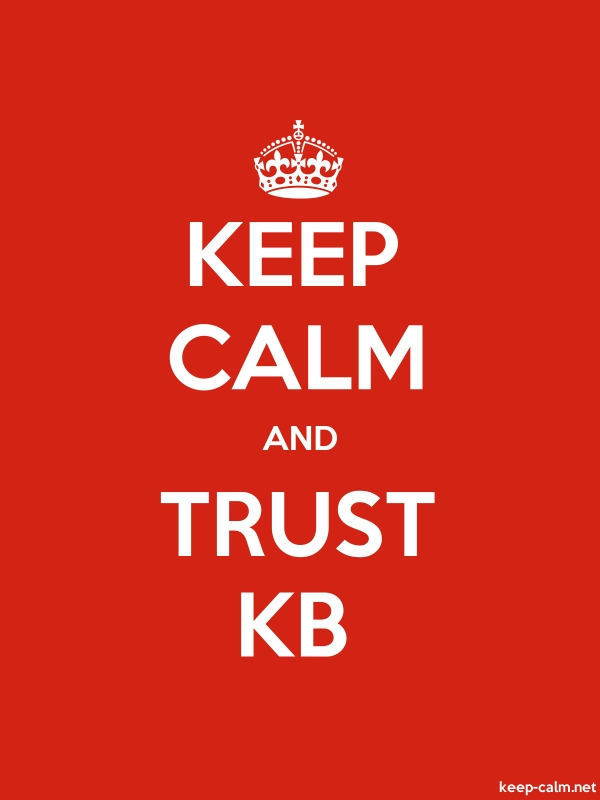 KEEP CALM AND TRUST KB - white/red - Default (600x800)