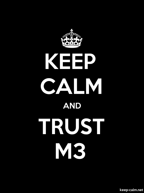KEEP CALM AND TRUST M3 - white/black - Default (600x800)