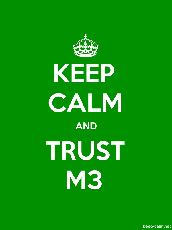 KEEP CALM AND TRUST M3 - white/green - Default (600x800)