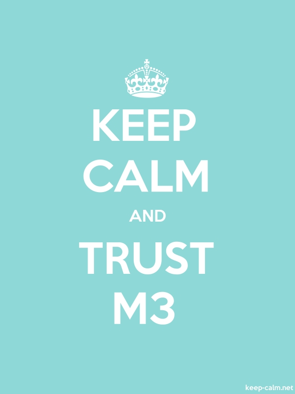 KEEP CALM AND TRUST M3 - white/lightblue - Default (600x800)