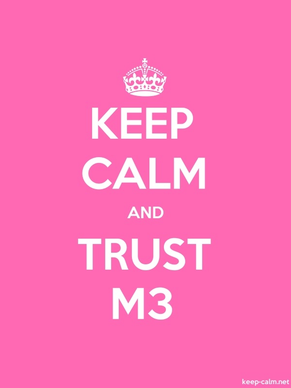 KEEP CALM AND TRUST M3 - white/pink - Default (600x800)