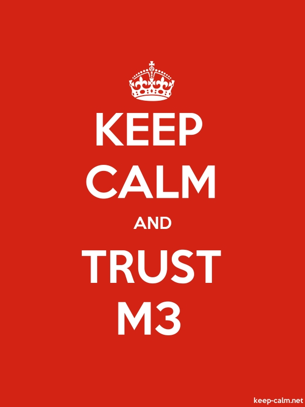 KEEP CALM AND TRUST M3 - white/red - Default (600x800)