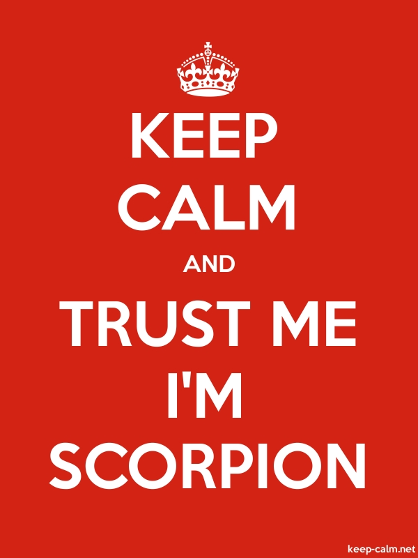 KEEP CALM AND TRUST ME I'M SCORPION - white/red - Default (600x800)