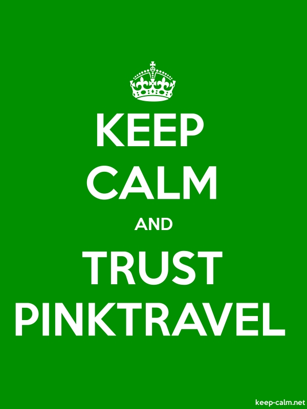 KEEP CALM AND TRUST PINKTRAVEL - white/green - Default (600x800)