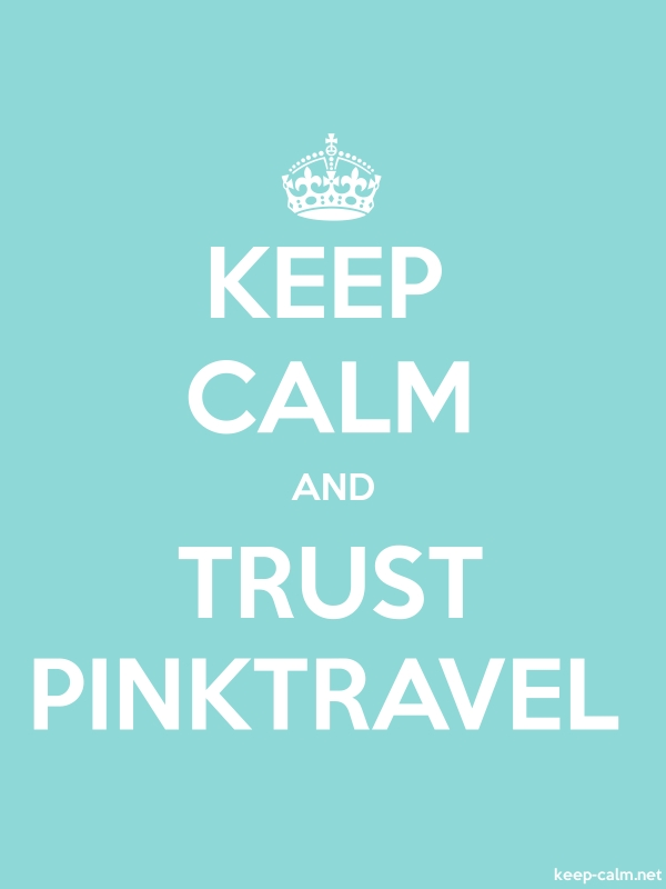 KEEP CALM AND TRUST PINKTRAVEL - white/lightblue - Default (600x800)