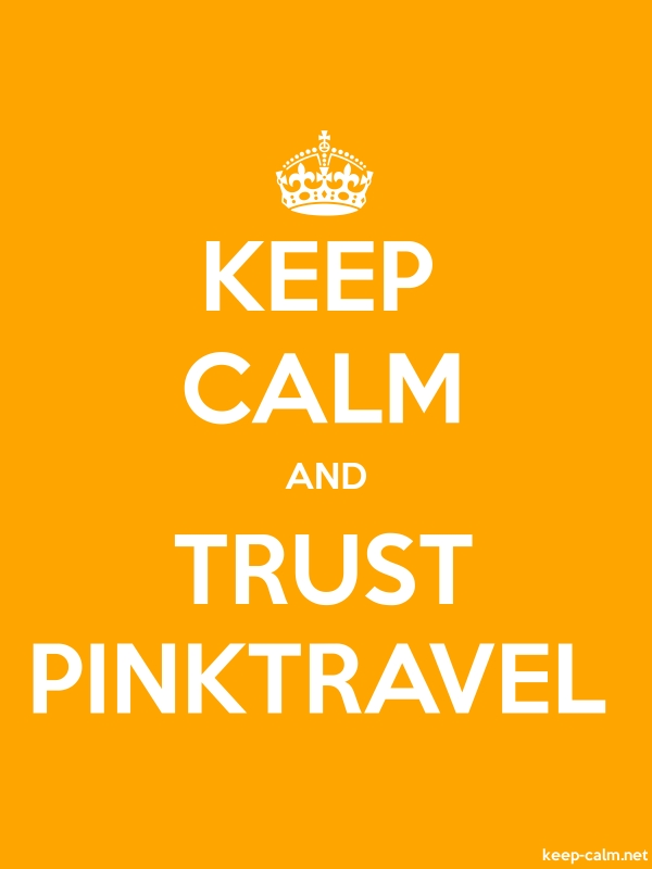 KEEP CALM AND TRUST PINKTRAVEL - white/orange - Default (600x800)