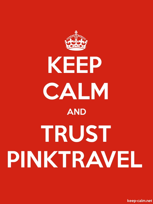 KEEP CALM AND TRUST PINKTRAVEL - white/red - Default (600x800)