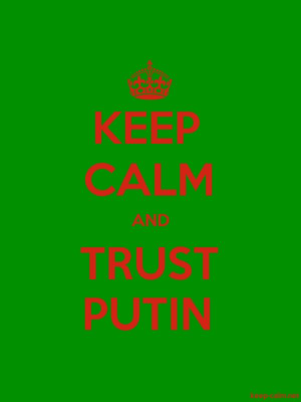 KEEP CALM AND TRUST PUTIN - red/green - Default (600x800)