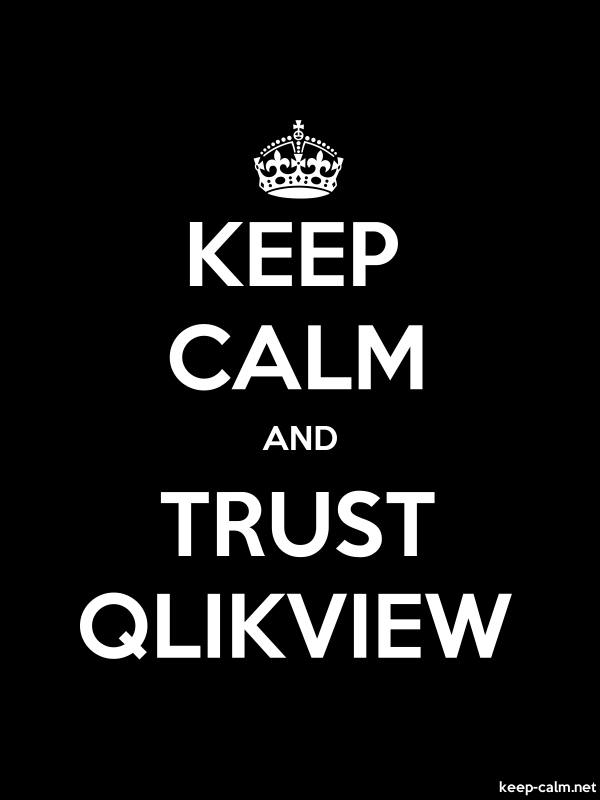 KEEP CALM AND TRUST QLIKVIEW - white/black - Default (600x800)