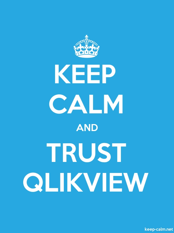 KEEP CALM AND TRUST QLIKVIEW - white/blue - Default (600x800)