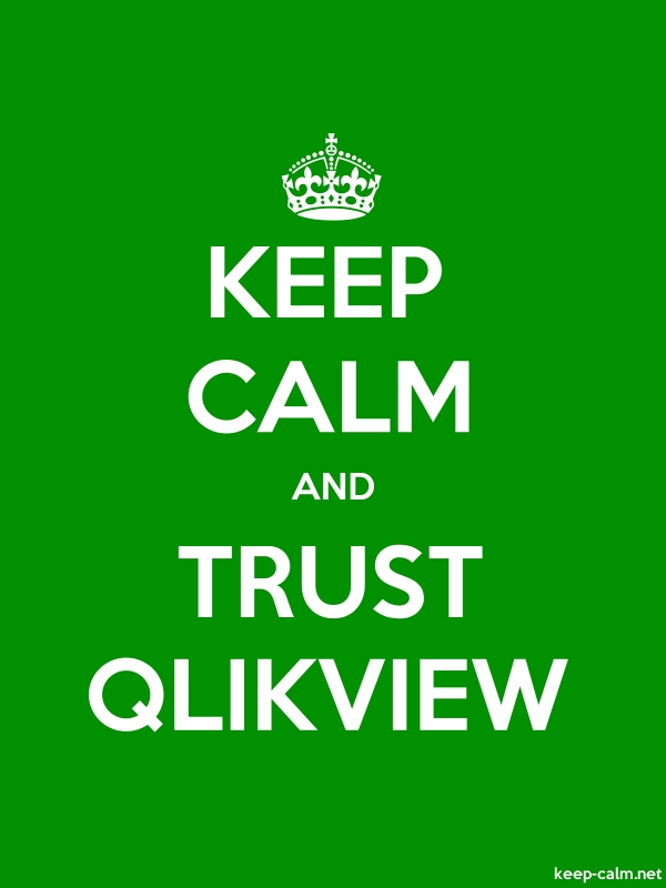 KEEP CALM AND TRUST QLIKVIEW - white/green - Default (600x800)