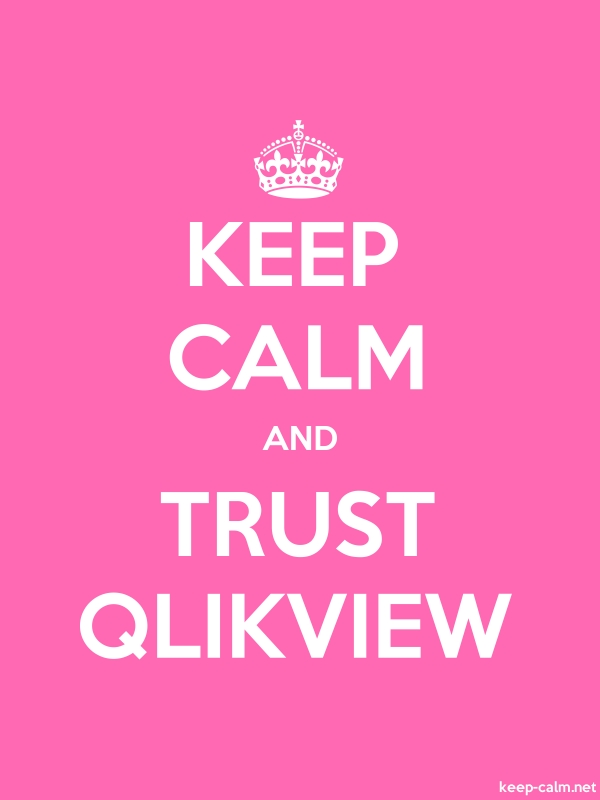 KEEP CALM AND TRUST QLIKVIEW - white/pink - Default (600x800)
