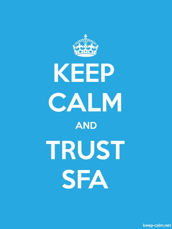 KEEP CALM AND TRUST SFA - white/blue - Default (600x800)