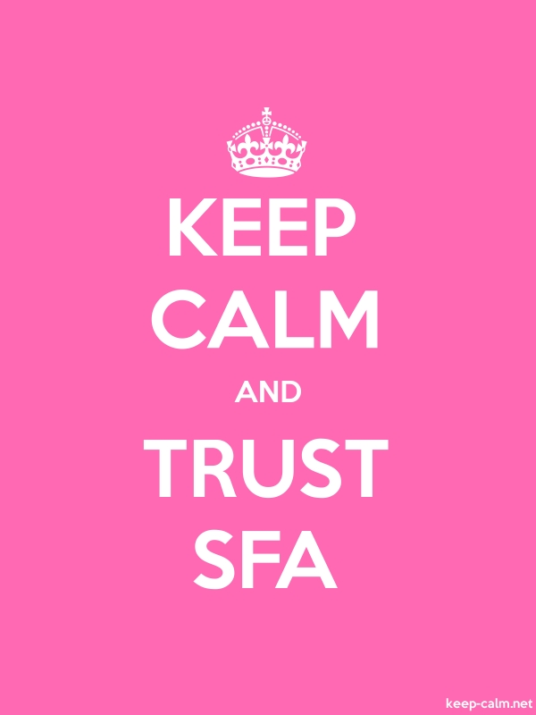KEEP CALM AND TRUST SFA - white/pink - Default (600x800)