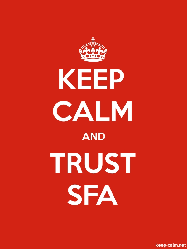 KEEP CALM AND TRUST SFA - white/red - Default (600x800)