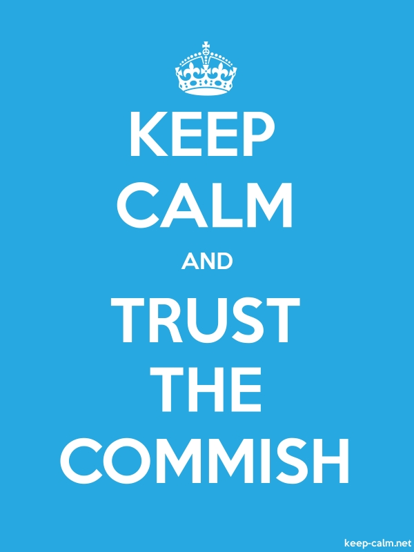 KEEP CALM AND TRUST THE COMMISH - white/blue - Default (600x800)