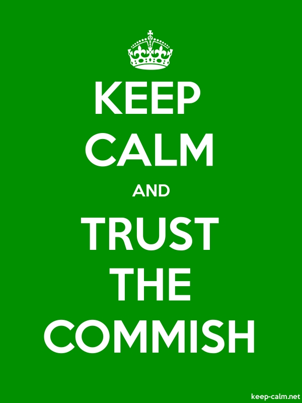 KEEP CALM AND TRUST THE COMMISH - white/green - Default (600x800)