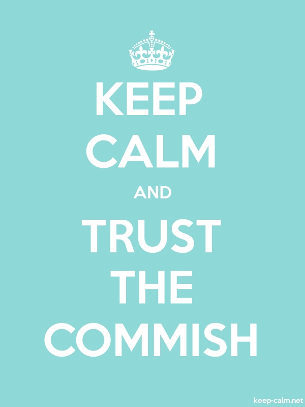 KEEP CALM AND TRUST THE COMMISH - white/lightblue - Default (600x800)