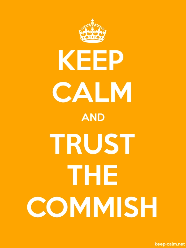 KEEP CALM AND TRUST THE COMMISH - white/orange - Default (600x800)