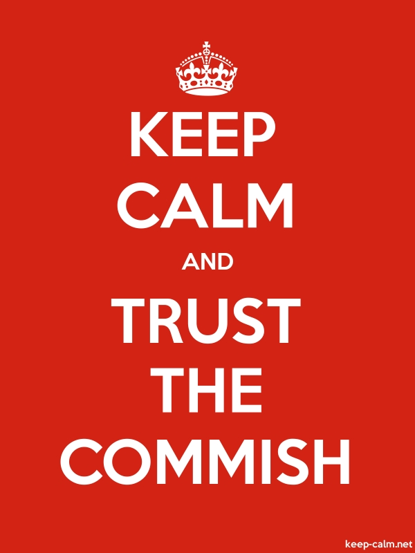 KEEP CALM AND TRUST THE COMMISH - white/red - Default (600x800)
