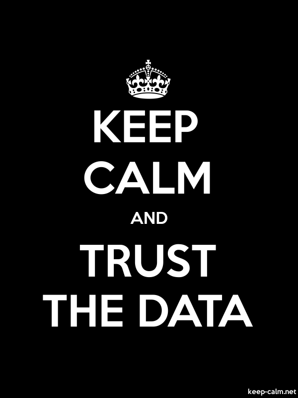 KEEP CALM AND TRUST THE DATA - white/black - Default (600x800)