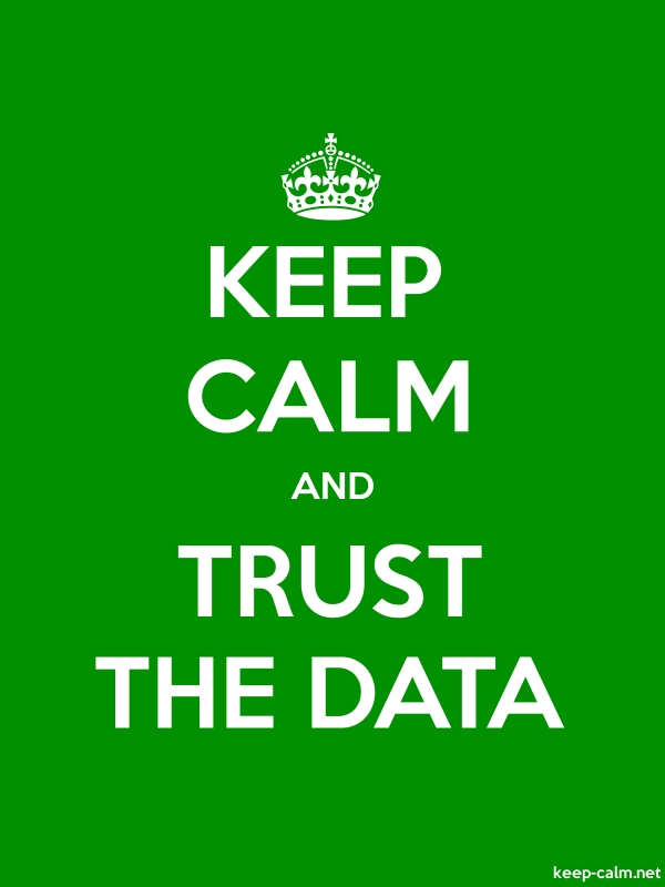 KEEP CALM AND TRUST THE DATA - white/green - Default (600x800)