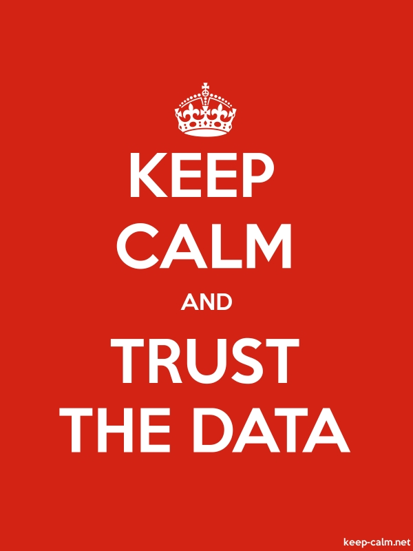 KEEP CALM AND TRUST THE DATA - white/red - Default (600x800)