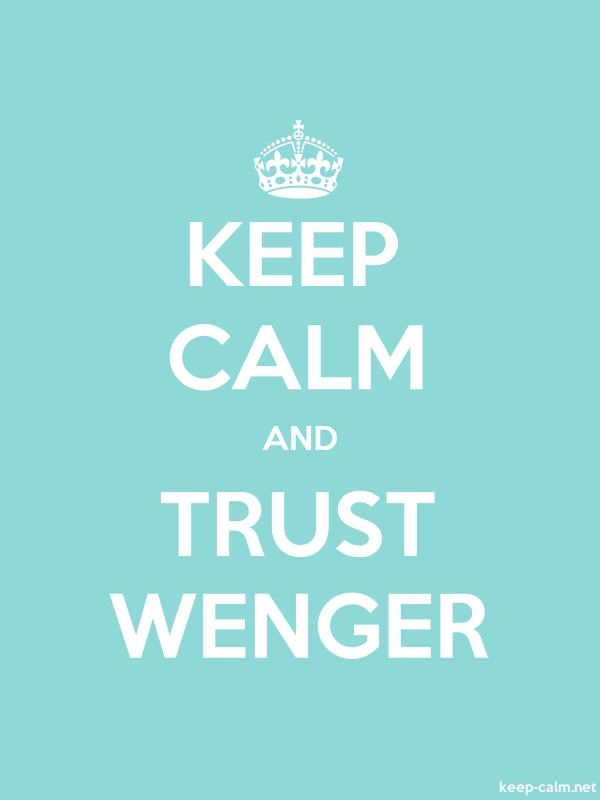 KEEP CALM AND TRUST WENGER - white/lightblue - Default (600x800)