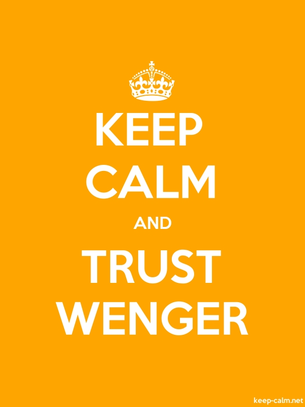 KEEP CALM AND TRUST WENGER - white/orange - Default (600x800)