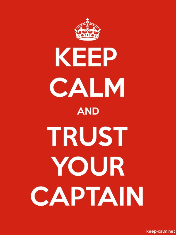 KEEP CALM AND TRUST YOUR CAPTAIN - white/red - Default (600x800)