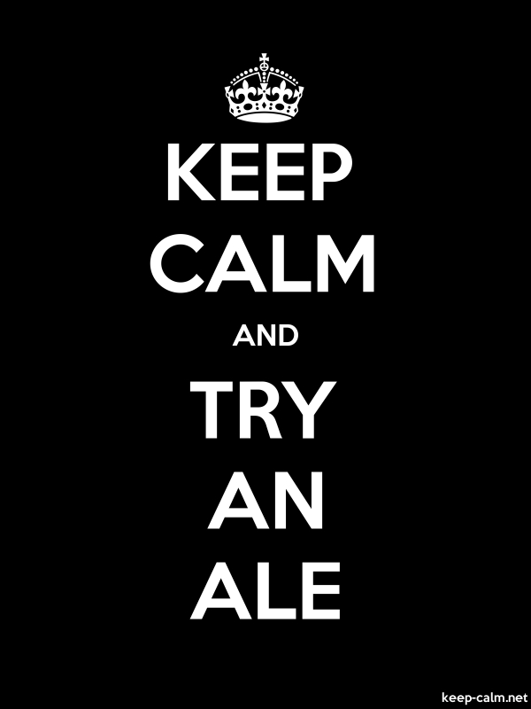 KEEP CALM AND TRY AN ALE - white/black - Default (600x800)
