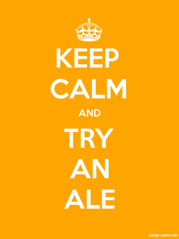 KEEP CALM AND TRY AN ALE - white/orange - Default (600x800)