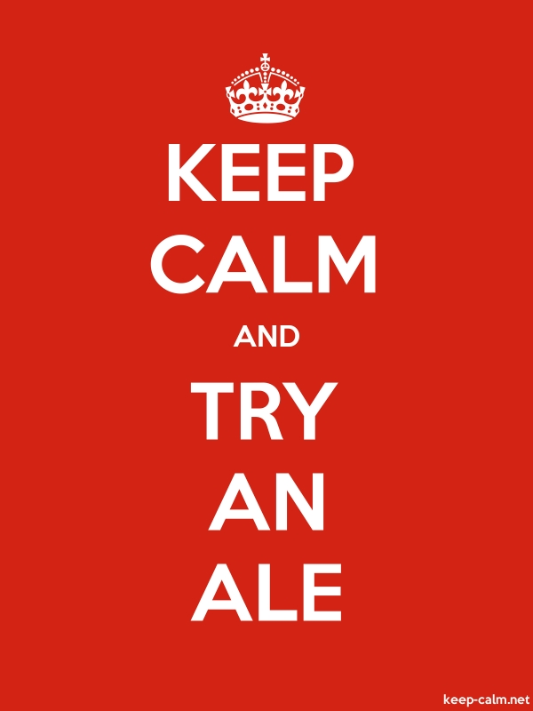 KEEP CALM AND TRY AN ALE - white/red - Default (600x800)