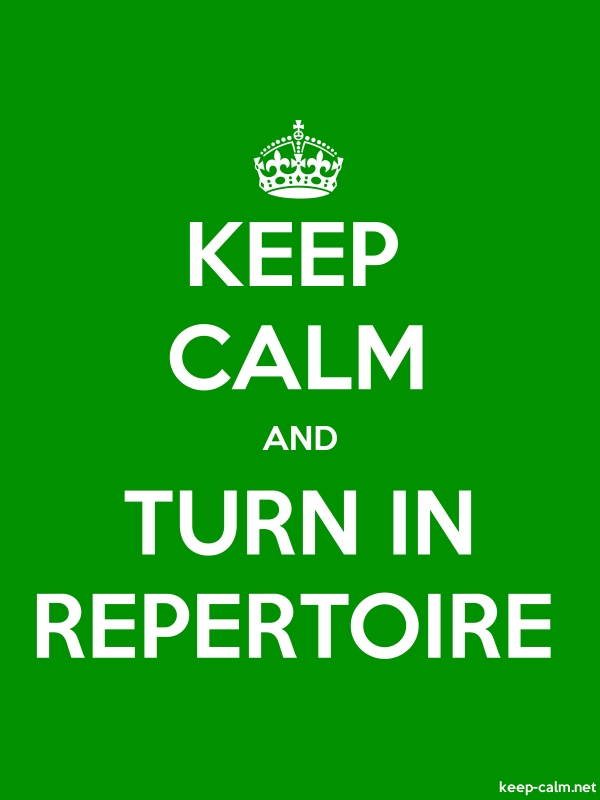KEEP CALM AND TURN IN REPERTOIRE - white/green - Default (600x800)
