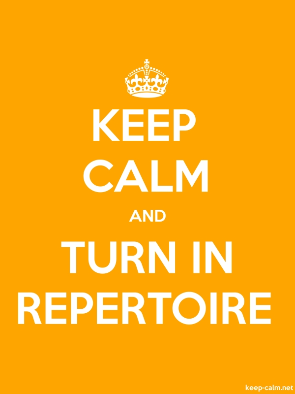 KEEP CALM AND TURN IN REPERTOIRE - white/orange - Default (600x800)