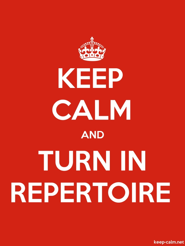 KEEP CALM AND TURN IN REPERTOIRE - white/red - Default (600x800)