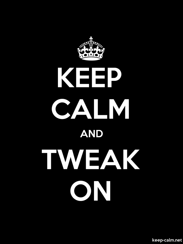 KEEP CALM AND TWEAK ON - white/black - Default (600x800)