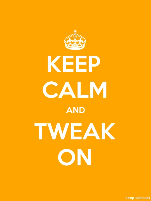 KEEP CALM AND TWEAK ON - white/orange - Default (600x800)