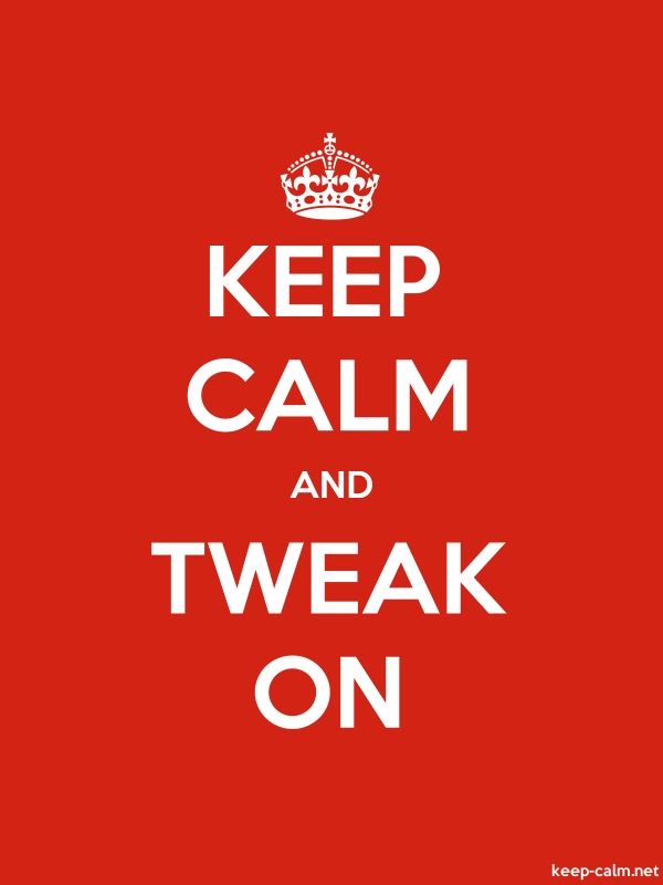 KEEP CALM AND TWEAK ON - white/red - Default (600x800)